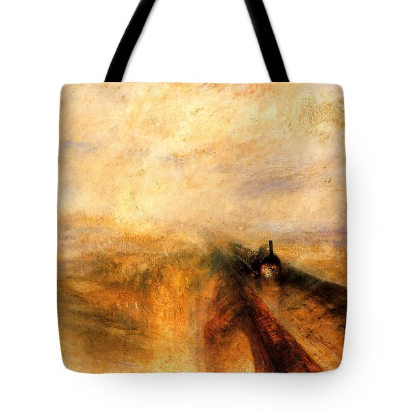 Rain Steam And Speed.  Tote Bag by J M W Turner