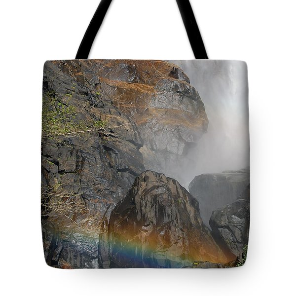 Rainbow And Mist Tote Bag by Debra Thompson
