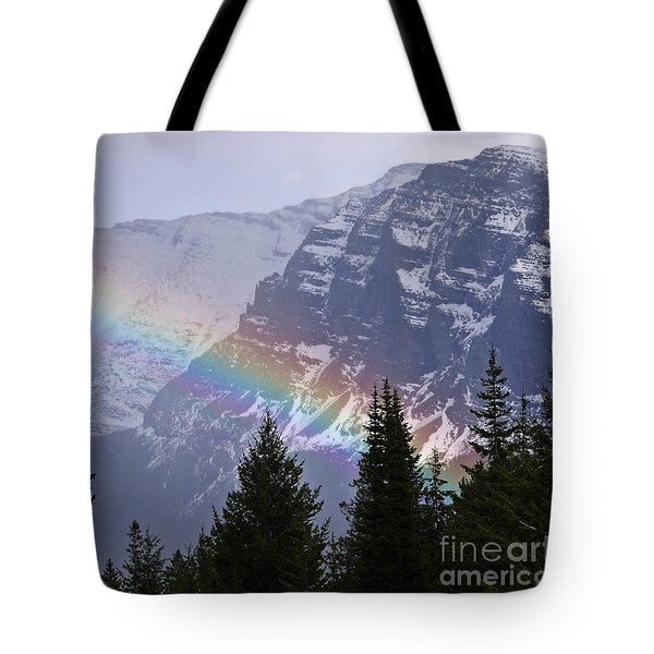 Rainbow At Glacier National Park Tote Bag