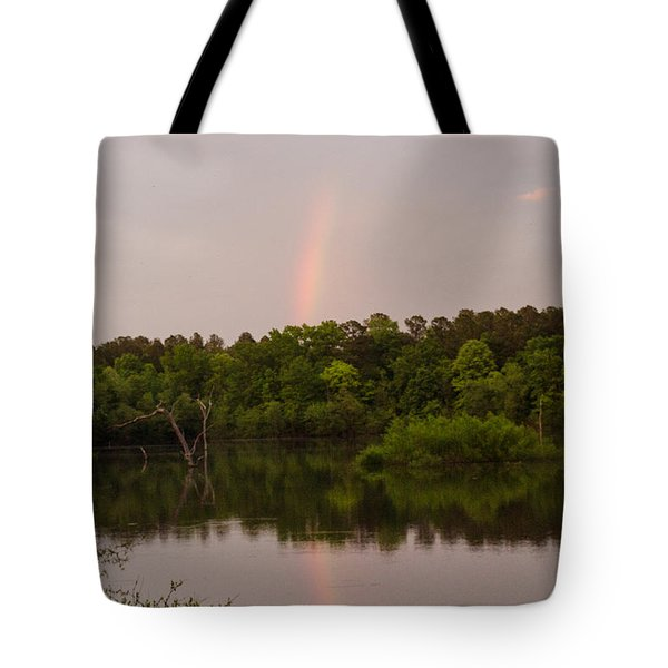 Rainbow At Sunset Tote Bag