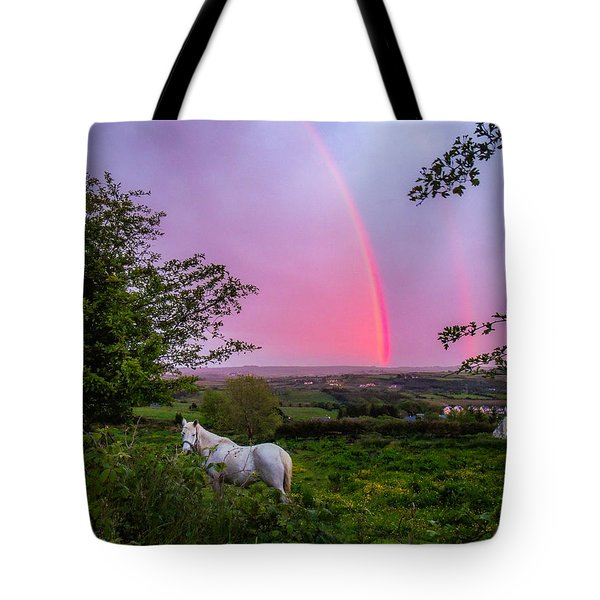 Rainbow At Sunset In County Clare Tote Bag