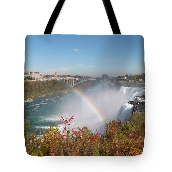 Rainbow At The American Falls Tote Bag