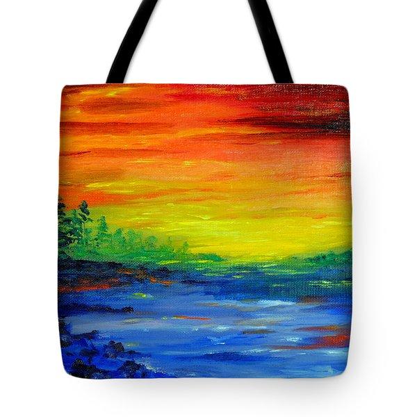 Rainbow Back Waters Tote Bag