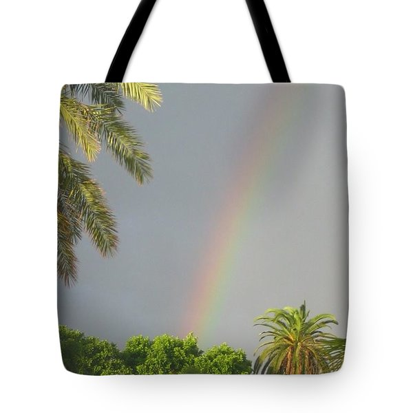 Tote Bag featuring the photograph Rainbow Bermuda by Photographic Arts And Design Studio
