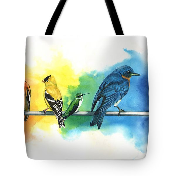Rainbow Birds Tote Bag
