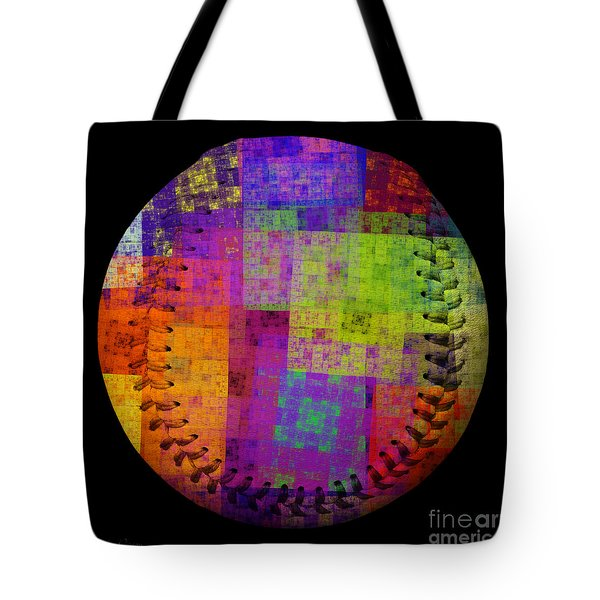 Rainbow Bliss Baseball Square Tote Bag by Andee Design