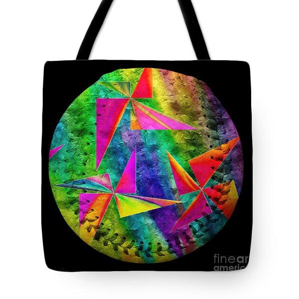 Rainbow Bliss Pinwheels Baseball Square Tote Bag by Andee Design