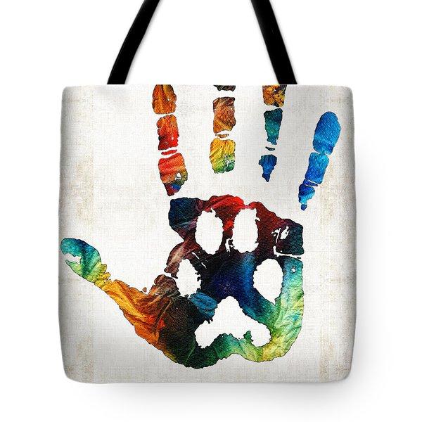 Rainbow Bridge Art - Never Forgotten - By Sharon Cummings Tote Bag