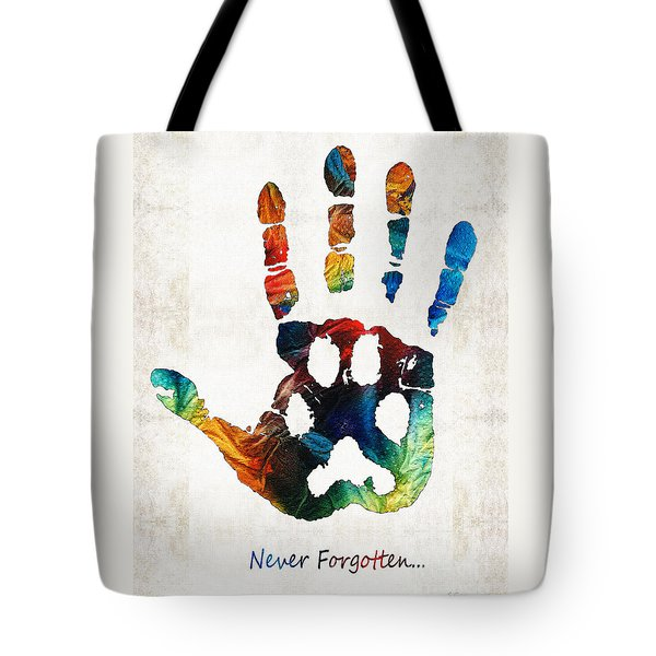 Rainbow Bridge Art - Never Forgotten - By Sharon Cummings Tote Bag