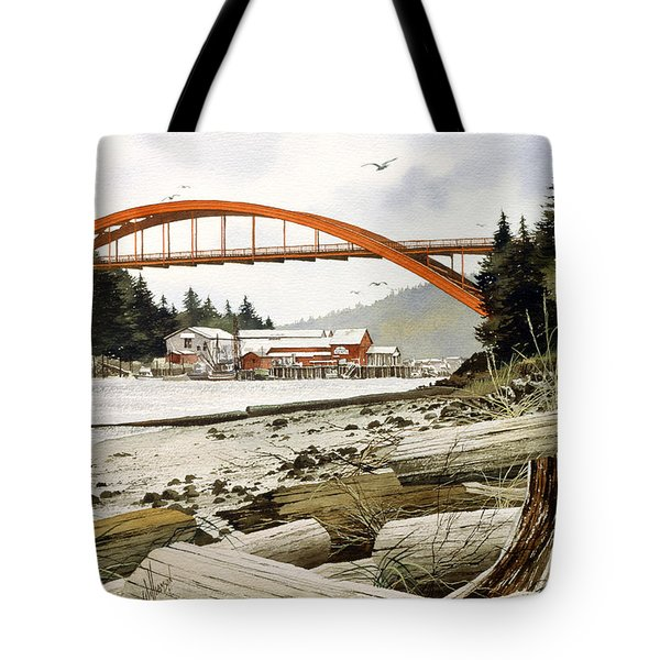 Rainbow Bridge Tote Bag by James Williamson