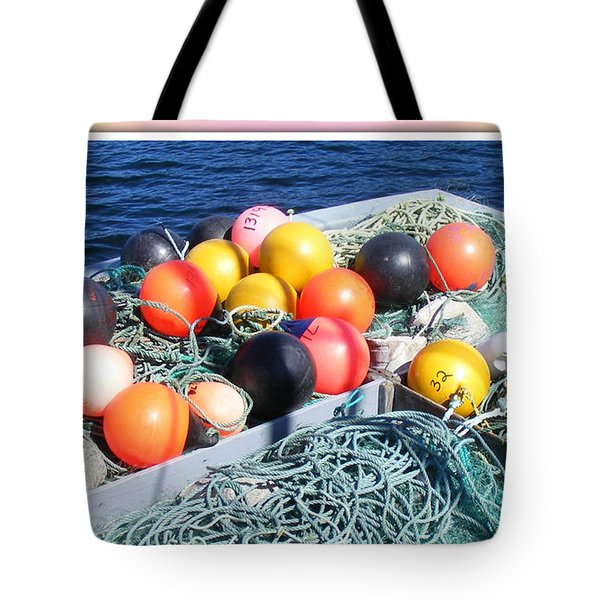 Rainbow Buoys Tote Bag by Barbara Griffin