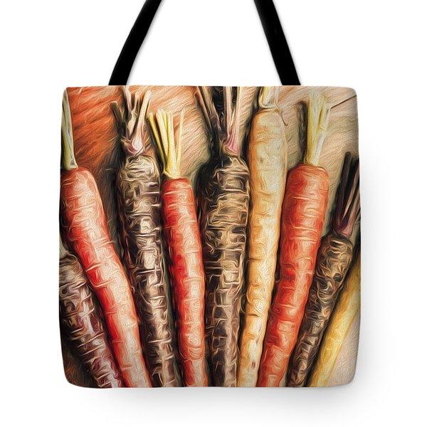 Rainbow Carrots. Vintage Cooking Illustration  Tote Bag