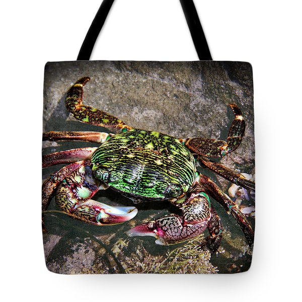 Rainbow Crab Tote Bag by Mariola Bitner