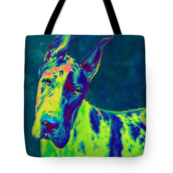 Rainbow Dane Tote Bag by Jane Schnetlage