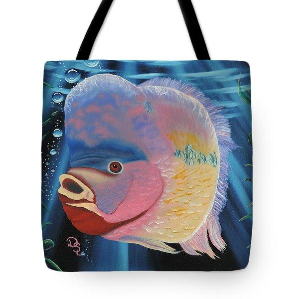 Rainbow Devil Fish Tote Bag
