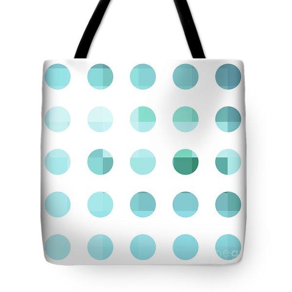 Rainbow Dots Aqua  Tote Bag by Pixel Chimp