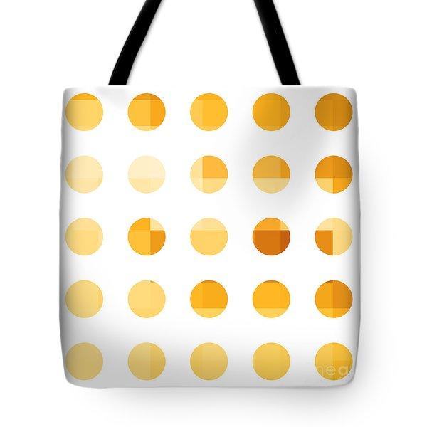 Rainbow Dots Orange Tote Bag by Pixel Chimp