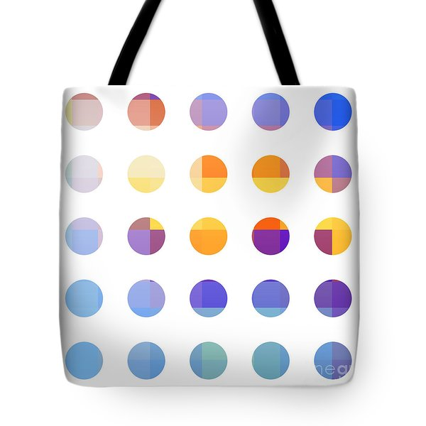 Rainbow Dots  Tote Bag by Pixel Chimp