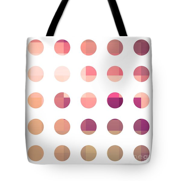 Rainbow Dots Rose Tote Bag by Pixel Chimp
