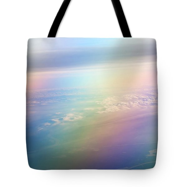 Rainbow Earth. Essence Of Life Tote Bag by Jenny Rainbow