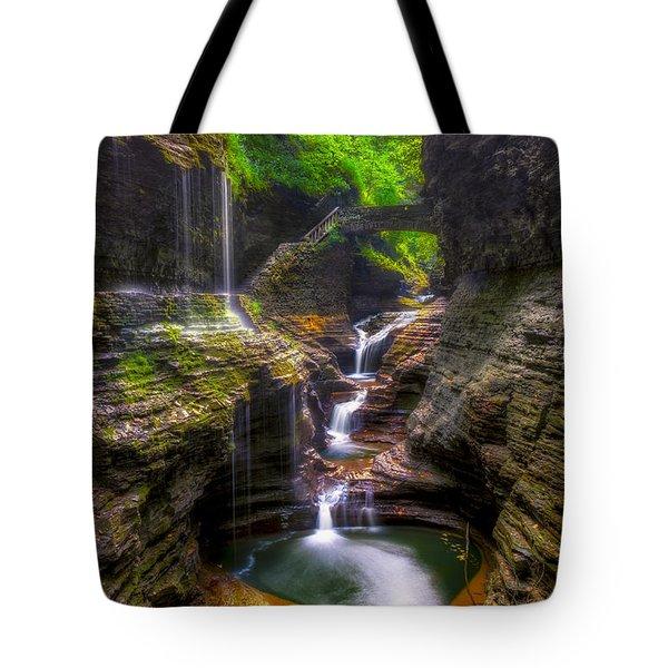 Rainbow Falls Of Watkins Glen Tote Bag
