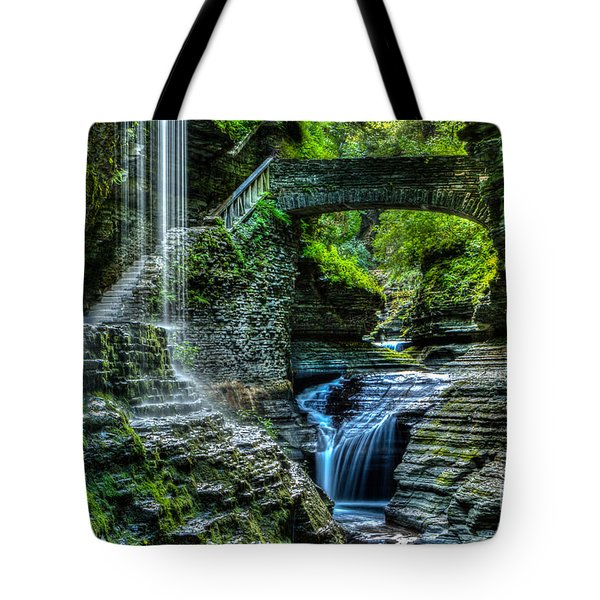 Rainbow Falls Watkins Glen Tote Bag