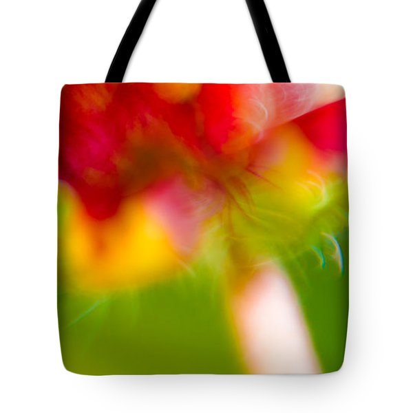 Rainbow Flower Tote Bag by Darryl Dalton