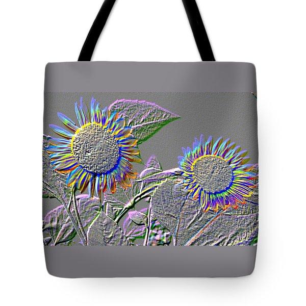 Rainbow Flower Tote Bag by Tom Wurl