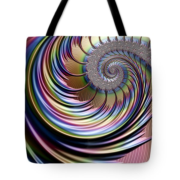 Rainbow Fronds Tote Bag