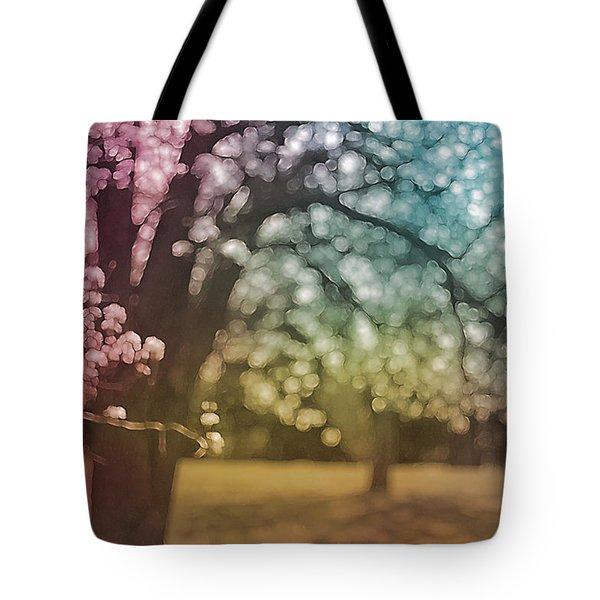 Rainbow Hawthorn Tote Bag