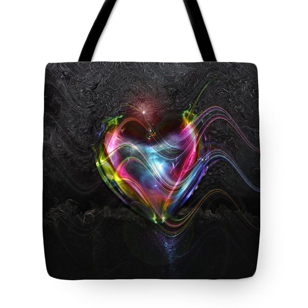 Rainbow Heart Tote Bag