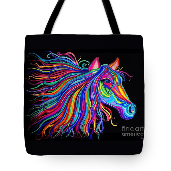 Rainbow Horse Too Tote Bag