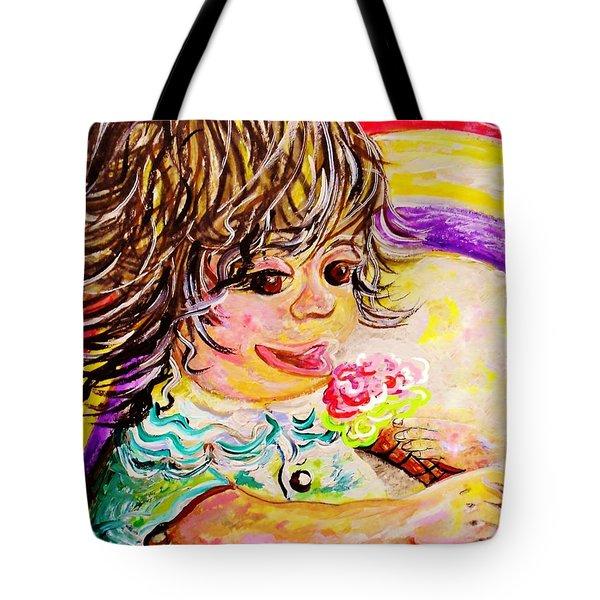 Rainbow Ice Cream Tote Bag by Eloise Schneider