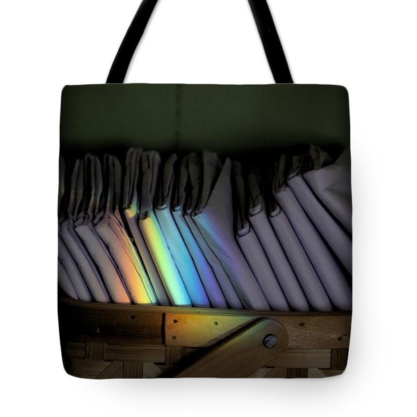 Rainbow In A Basket Tote Bag