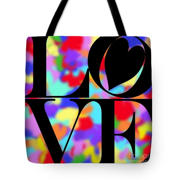 Rainbow Love In Black Tote Bag