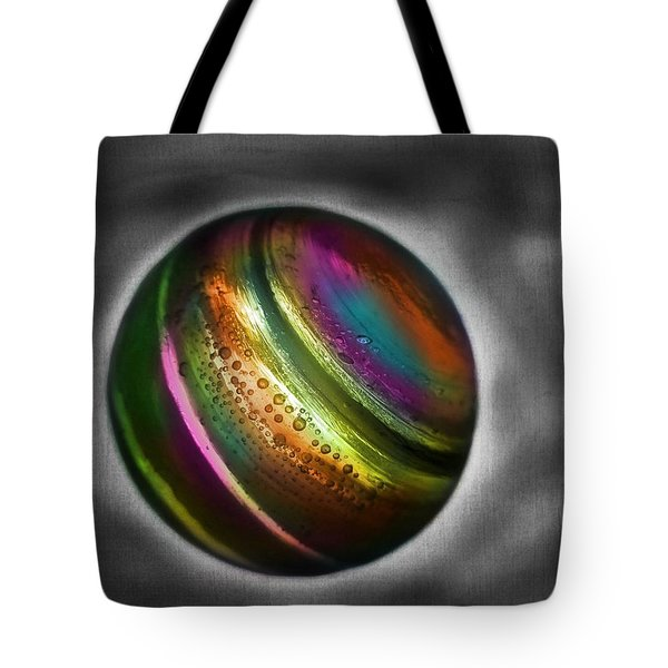 Rainbow Marble Tote Bag by Marianna Mills