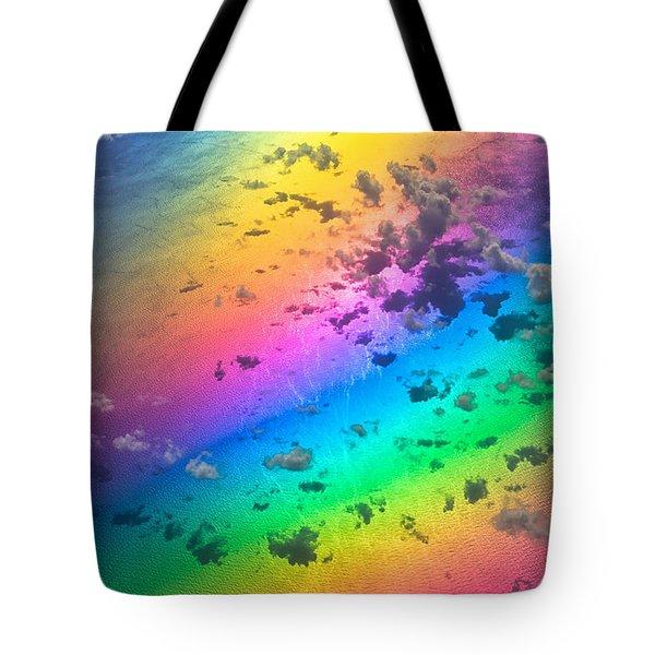 Rainbow Ocean Tote Bag by Eti Reid