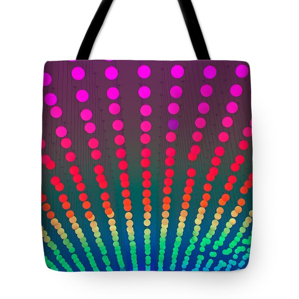 Rainbow Of Lights Tote Bag by Jean Haynes