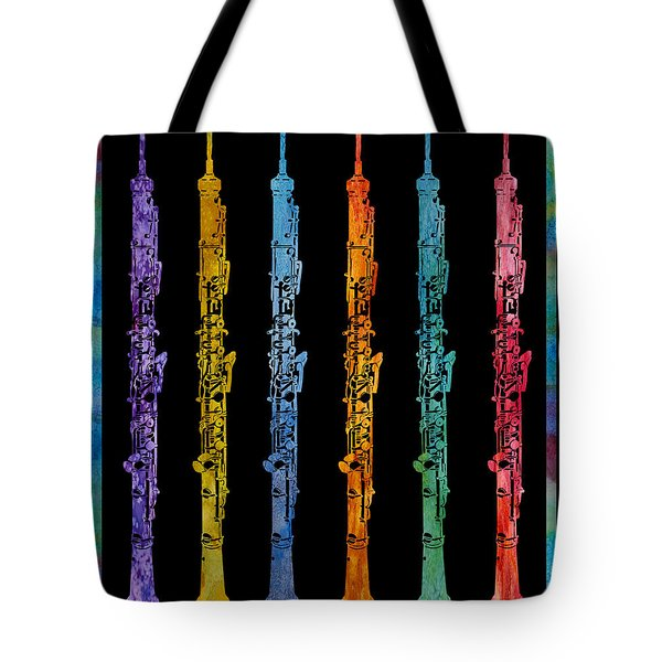 Rainbow Of Oboes Tote Bag