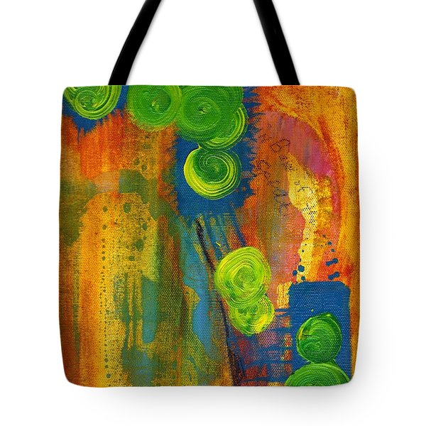Tote Bag featuring the painting Rainbow Of The Spirit by Lesley Fletcher
