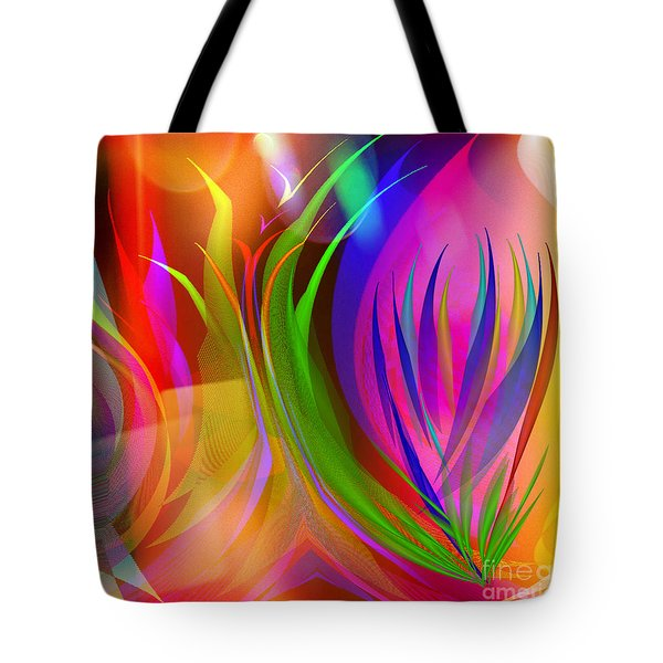 Tote Bag featuring the digital art Rainbow Of Thoughts by Gayle Price Thomas
