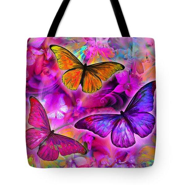 Rainbow Orchid Morpheus Tote Bag by Alixandra Mullins