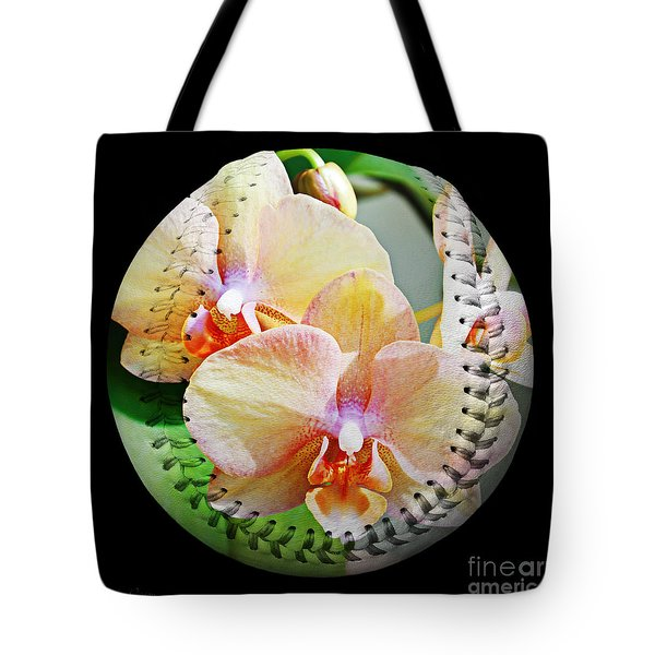 Rainbow Orchids Baseball Square Tote Bag by Andee Design