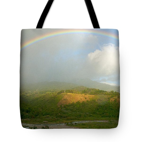 Rainbow Over Boquete Tote Bag by Heiko Koehrer-Wagner
