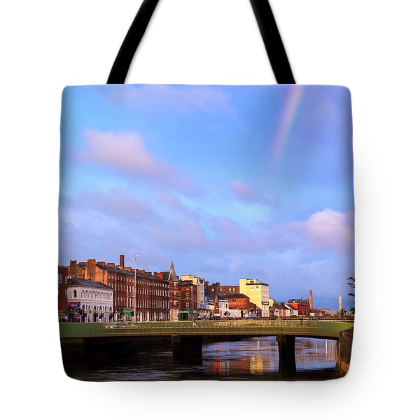 Rainbow Over Cork Tote Bag