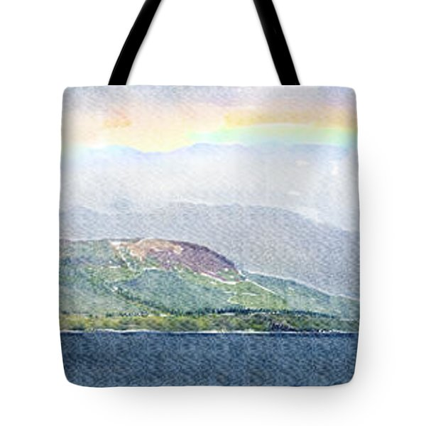 Rainbow Over The Isle Of Arran Tote Bag