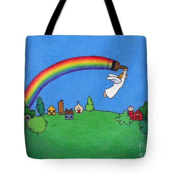 Rainbow Painter Tote Bag by Sarah Batalka