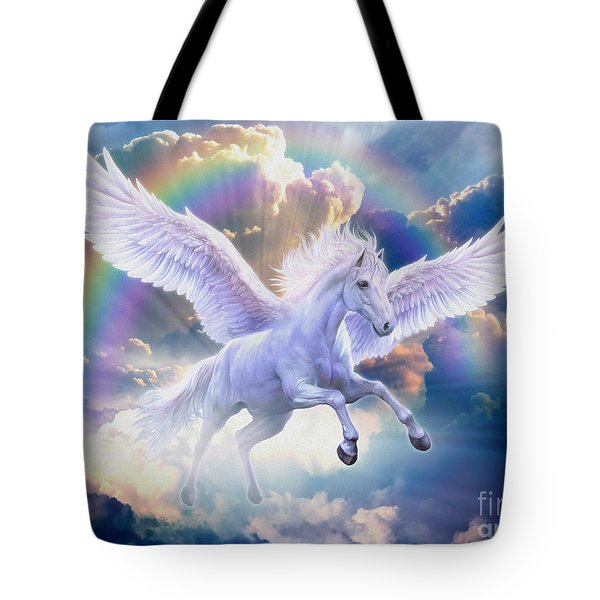 Rainbow Pegasus Tote Bag by Jan Patrik Krasny