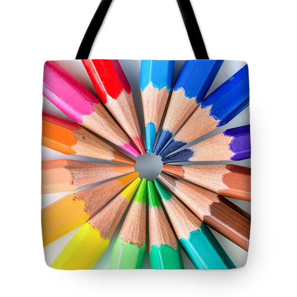 Rainbow Pencils Tote Bag