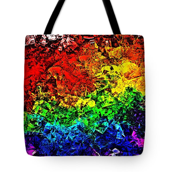 Rainbow Pieces Tote Bag